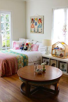 Beautiful big girl room in Carrie & Hal's Modern Bohemian Home
