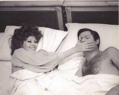 """Sophia Lorena and Marcello Mastroianni in """"Matrimonio all'italiana"""", 1964"""