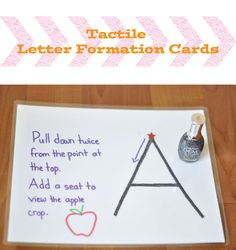 DIY Tactile Letter Cards with glitter nail polish - from Play Learn Love