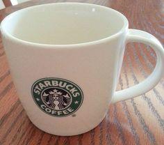 2008 White Starbucks Mug  with Green Siren Mermaid Logo  12 oz bone china  Looks brand new ~ excellent pre-owned conditon