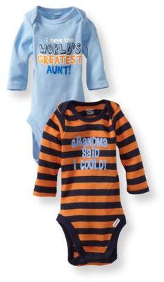 Gerber Baby-Boys Newborn 2 Pack Bodysuits, Blue/Orange, « Clothing Impulse