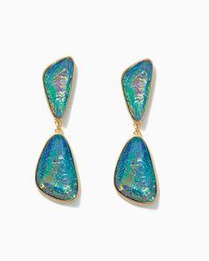 Gorgeous gems! | Dancing Foil Earrings | UPC: null #charmingcharlie