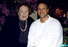Julia Child with Tom Colicchio