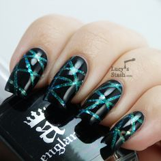 Laser tape nail art with tutorial