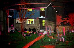 Kim Dorland - House Party - acrylic, oil and spray paint on canvas - 48 x 72 in. - 2006