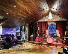 Stage Music Room Design, Pictures, Remodel, Decor and Ideas