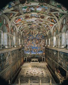 The Sistine Chapel in the Vatican City. brought me to tears.