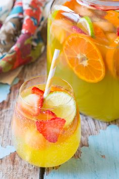 Sparkling White Sangria...summer in a glass!