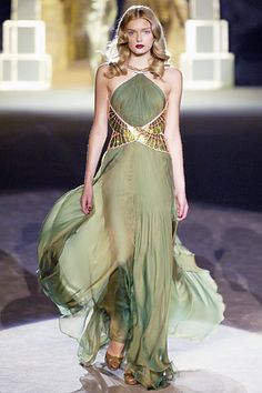 Egyptian inspired runway fashion