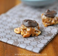 Caramel Nut Clusters: easy, delicious caramel, almond, peanut, pecan and chocolate clusters!