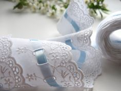 Heirloom Sewing Projects | ... Satin Ribbon Eyelet Heirloom Sewing Scalloped Edges Floral Embroidery