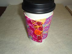 patchwork coffee cozy