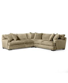 "Kenton Fabric Sectional Sofa, 2 Piece 107""W x 94""D x 33""H: Custom Col…"