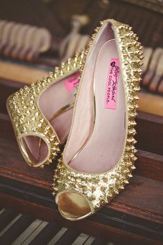 #betseyjohnson #spikes #studs #gold #shoes #vegas #style @Todd Coe #fashion #poshmark