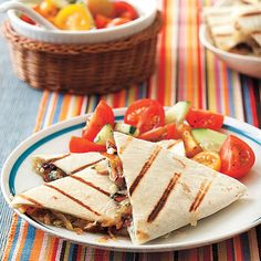 Caramelized Onion and Blue Cheese Quesadillas #recipe