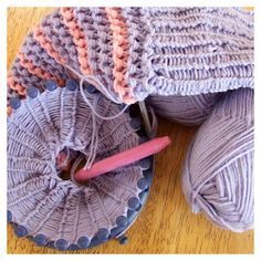 A lovely gift for little girls.  Knitted leg warmers using the round loom knifty knitter.  Includes video links to tutorials.