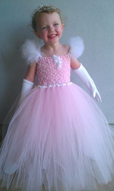 Pink Princess Crocheted Top Tutu Dress