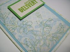 New Baby Card  Special Delivery Card  by SilverCloudDelights, $4.00