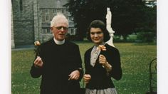 Jackie Kennedy with Father Joseph Leonard, an Irish priest and longtime confidante that she wrote many letters to until his death in 1964.