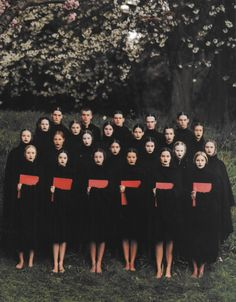 witchesandslippersandhoods:  The Choir, photographed by Phil Poynter for Dazed and Confused, 1999 All clothes by Raf Simons