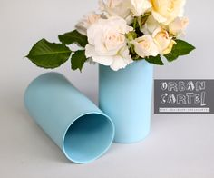 porcelain vase ocean colour by urbancartel on Etsy