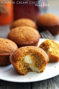 Cream Cheese Pumpkin muffins are a moist and delicious muffin filled with cream cheese! These are incredible!