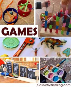 Games and more games! Lots of different homemade games for the kids to make.