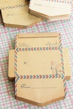 Kraft Paper Envelopes-Mini Envelope Embellishment-Perfect for travel scrapbook pages-DIY Envelopes-From Japan-Italy
