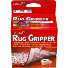 """Optimum Technologies 2525A-6TR Rug Gripper Non-Slip Rug Tape by Optimum. $9.35. 2.5"""" x 25'. Secures up to 1-3' x 5' rug. For indoor use. """"LOK-LIFT"""" RUG GRIPPER. Lok-Lift Rug Gripper keeps rugs and mats in place. Never worry about wrinkled rugs and mats again. Enjoy a neat appearance and make vacuuming easier with Rug Gripper   the revolutionary nonslip product that is safe and easy to use on all floor surfaces, including carpet. The secret of Rug Gripper is a patented technology ..."""
