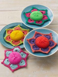 Scrubby Posey | Yarn | Free Knitting Patterns | Crochet Patterns | Yarnspirations