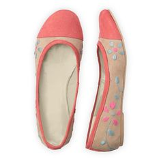 Fair Trade Color Block Daisies Hand Embroidered Flats from fairindigo.com