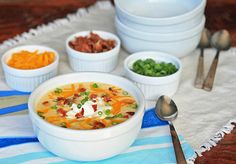 Loaded Bacon and Cheddar Baked Potato Soup