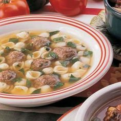 Italian Wedding Soup..one of my favorites. Easy to make.