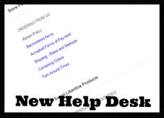 New: Help Desk - New content has been added! A great place for all of your Sweet Libertine FAQs. help desk, place