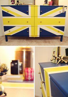 DIY Union Jack Dresser