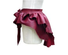 leather overskirt