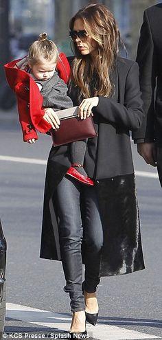 Victoria Beckham and daughter Harper