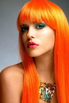 Long Orange Hair