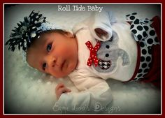 Adorable Boutique ALABAMA Roll Tide Baby by EmmiLoosDesigns, $25.00