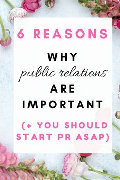 6 reasons why public relations are important (+ You should start PR ASAP) | public relations | PR | press | media | press coverage | media coverage | social media | marketing | digital marketing | creative entrepreneur | influencer | entrepreneur | #marketing #digitalmarketing #socialmedia #socialmediamarketing