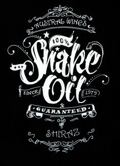 Snake Oil Wine Label on Behance