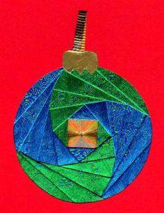 Make an Iris Folded Christmas Ornament: