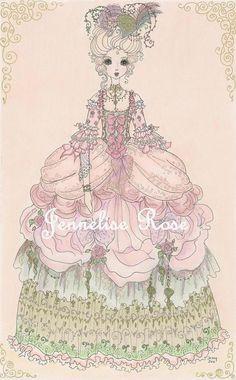Marie Antoinette - 4 1/4 x 7 Art Print