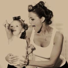 Creative and cute Mother  daughter photos!.