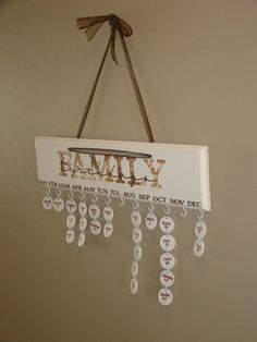 What a great idea to teach AND remember when the family birthdays are!!