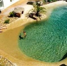 Pool looks like a beach