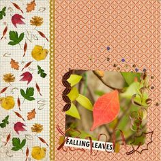 Falling Leaves This Fall, This digital scrapbooking page was created using Cast A Spell by Elif at Pixel Scrappe