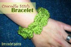 Free Crochet Pattern - Crocodile Stitch Bracelet - Page 3
