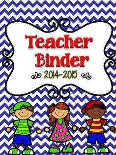 Teacher Binder -  A great organizational tool for teachers. #tpt  #education  #teacher