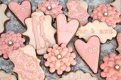 Preciosas galletas para una boda / Lovely cookies for a wedding